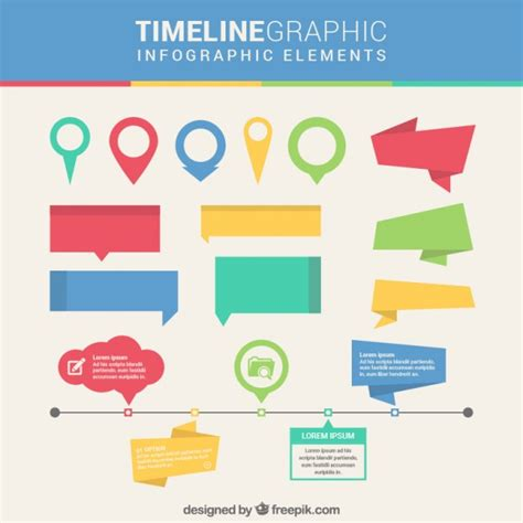 infographic design elements in vector timeline infographic elements vector free download