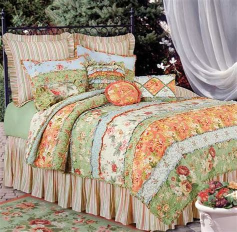 garden quilt and bedding