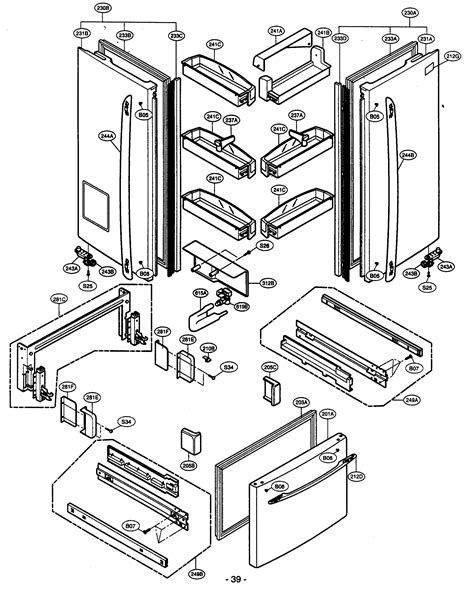 kenmore elite parts diagram door parts diagram parts list for model 79575194400