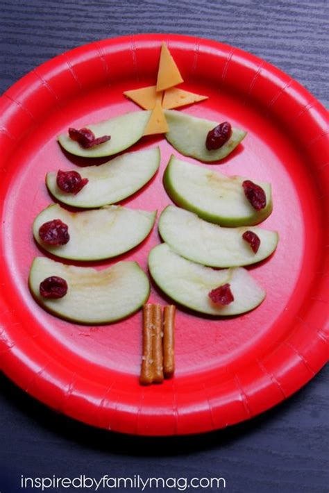 christmas snacks for preschool edible tree healthy food inspired by family