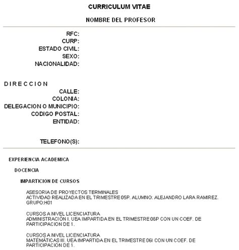 Modelo Curriculum Vitae Europeo Junta De Andalucia Cghlp411