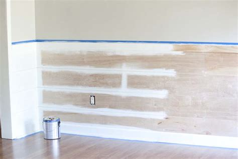 Faux Shiplap Wall How To Diy Faux Shiplap Without Spending A Fortune