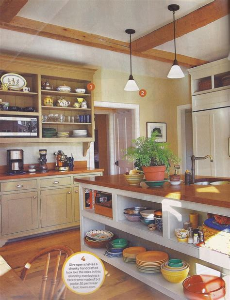 kitchen island with open shelves beams open shelves on island open plan kitchen ideas