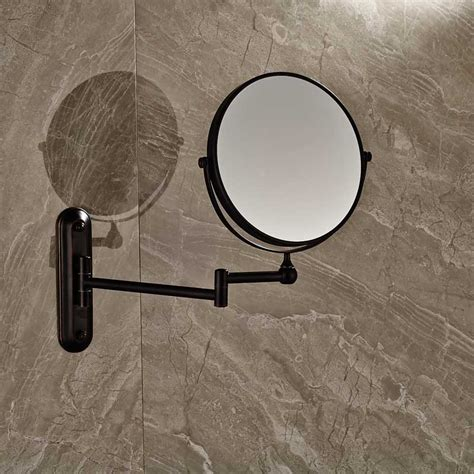 telescopic bathroom mirror telescoping bathroom mirror 5x telescoping adjustable height pedestal vanity mirror