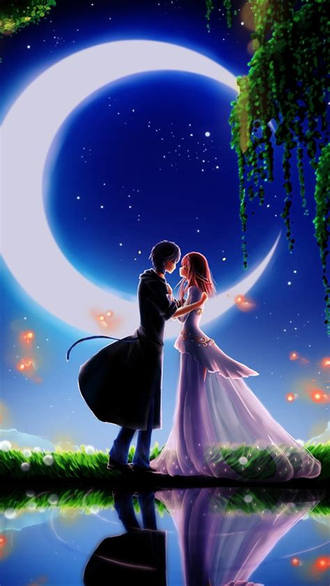couple wallpaper for iphone 5 moonlight dating boy and girl iphone wallpaper 640x1136