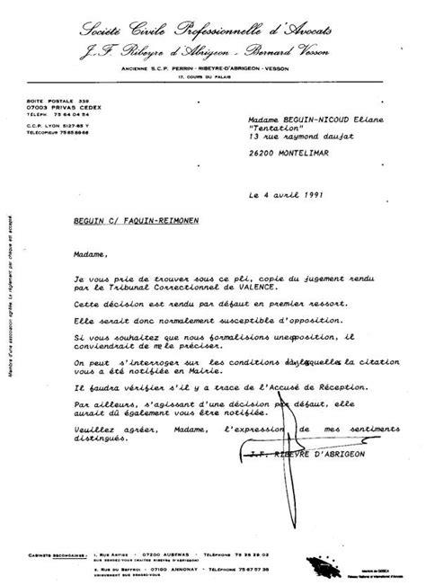 Lettre Demande De Jugement De La Corruption Au Crime D Etat Nicoud Eliane Et Ribeyre D Abrigeon J F Avocat 1991