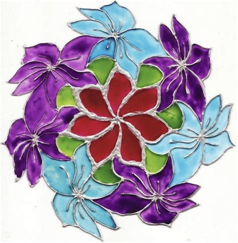 flower design for glass painting glass painted flower 183 how to create a drawing or painting