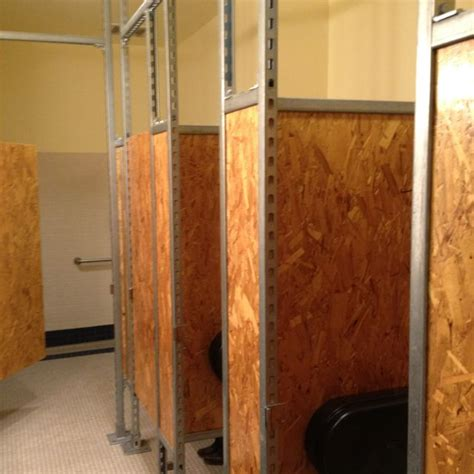 bathroom stall walls osb restroom partitions interiors pinterest