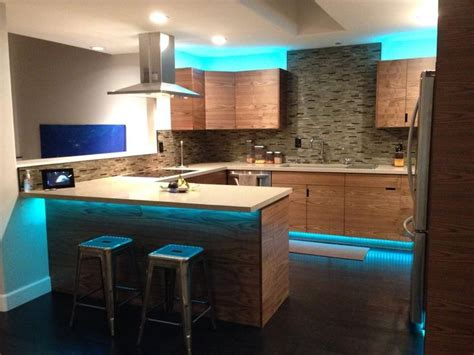 Kitchen Cabinet Led Lights Led Light Strips Are Great For Lighting Up Your Kitchen Cabinets Hitlights Offer Cabinet