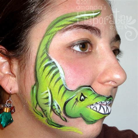 dinosaur amanda s elaborate eyes face amp body painting
