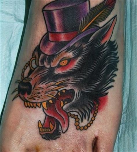 top hat tattoo wolf in a top hat wolves