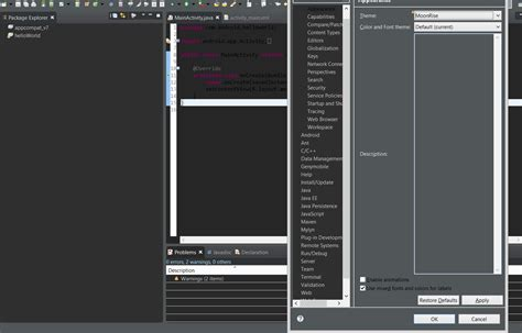 import theme eclipse luna eclipse luna dark theme not completely dark like pictures