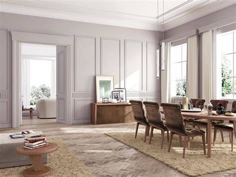 azienda soggiorno cortina tavolo da pranzo lineare su misura per salotto classico