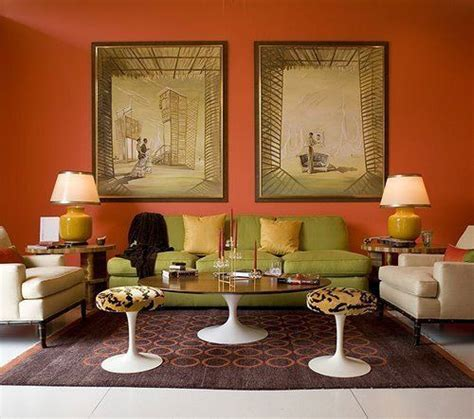 orange paint colors for living room paint color portfolio orange living rooms