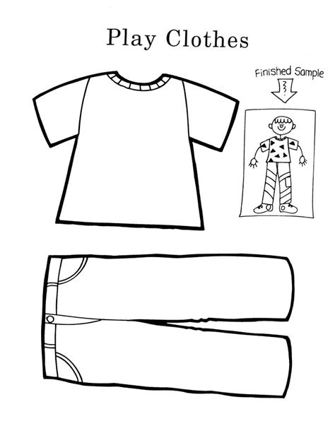 clothes coloring pages free printable clothes coloring pages cool pre k worksheets for children