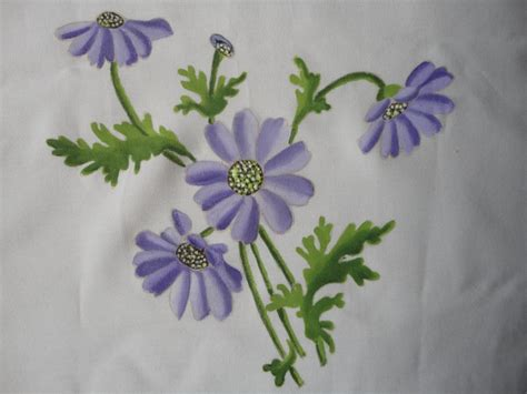 easy painting flower designs mycreations painted flowers on fabric