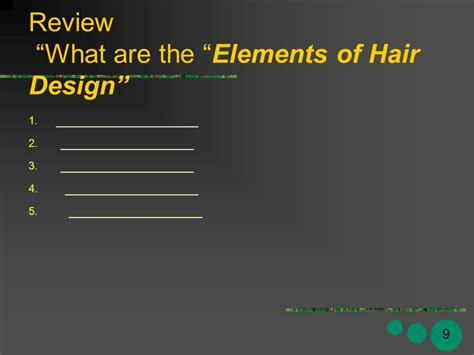 design review elements milady s standard cosmetology principles of hair design