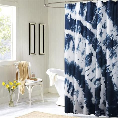 can you dye polyester curtains boho tie dye blue polyester shower curtain models blue