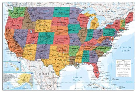 large usa wall map usa united states large map wall chart poster new