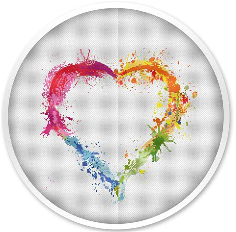 cross stitch heart cross stitch pattern free shipping cross stitch pdf