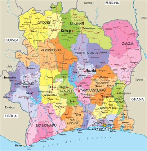 world map ivory coast where is cote divoire ivory coast location map of cote