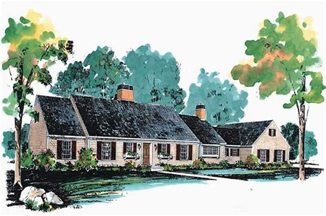 colonial cape cod house plans home design hw 2699 17639