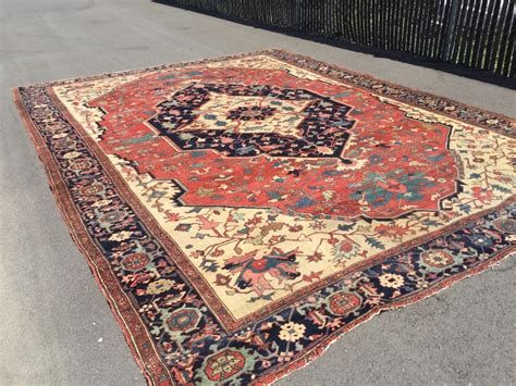 11x15 rug 11x15 antique serapi handknotted wool 1900 s rug has backing glued rugrabbit