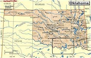 map of oklahoma border directions to blue water striper guide service