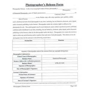 photographer copyright release form template photographer copyright release form template