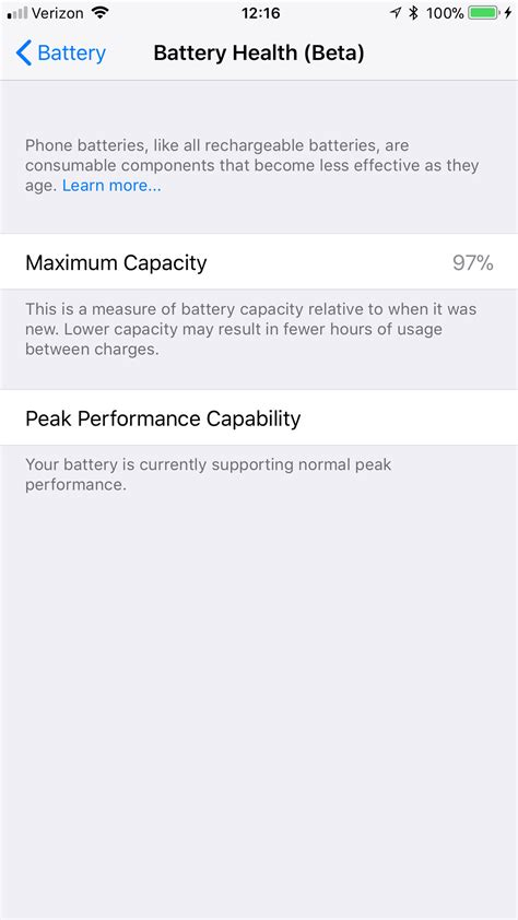 here s what the iphone s battery health setting will look like