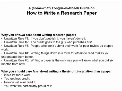 How To Make A Thesis For A Research Paper - how to write a scientific research paper part 1 of 3