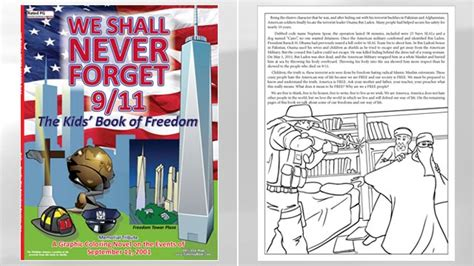 never forget andrew books 9 11 coloring book draws criticism for portrayal of
