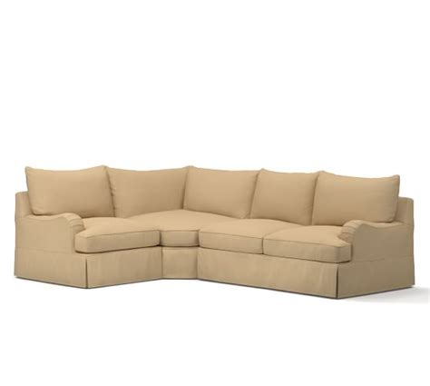 comfort english pb comfort english arm slipcovered 3 piece sectional with