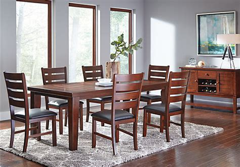 lake tahoe brown 5 pc rectangle dining room dining room