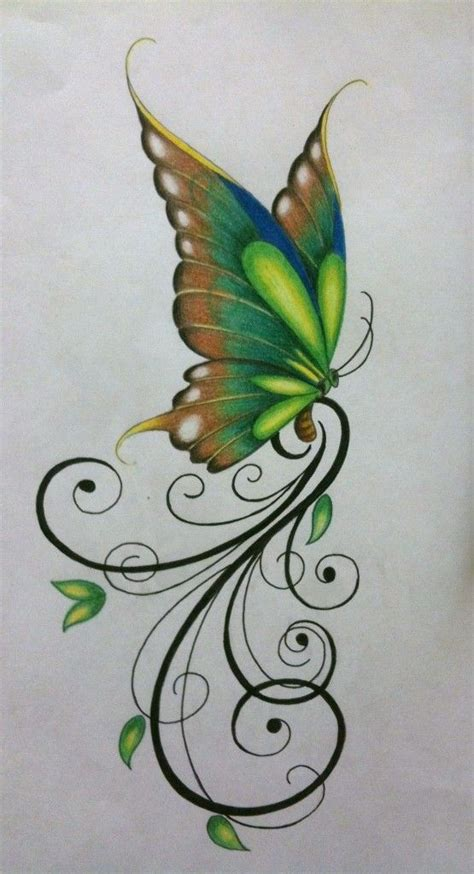 tattoo butterfly green butterfly design for a tattoo art pinterest green