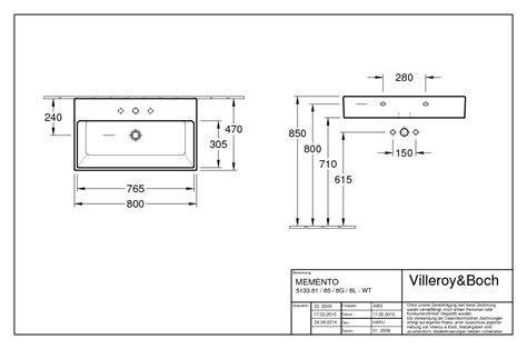 waschtisch memento villeroy boch memento waschtisch 800 x 470 mm mit
