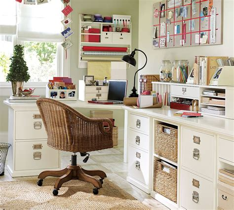 Home Desk Organization creation of a home office sewing craft room