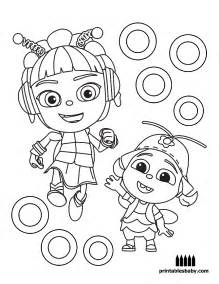 cartoon coloring pages printables baby
