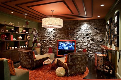 sports themed media room