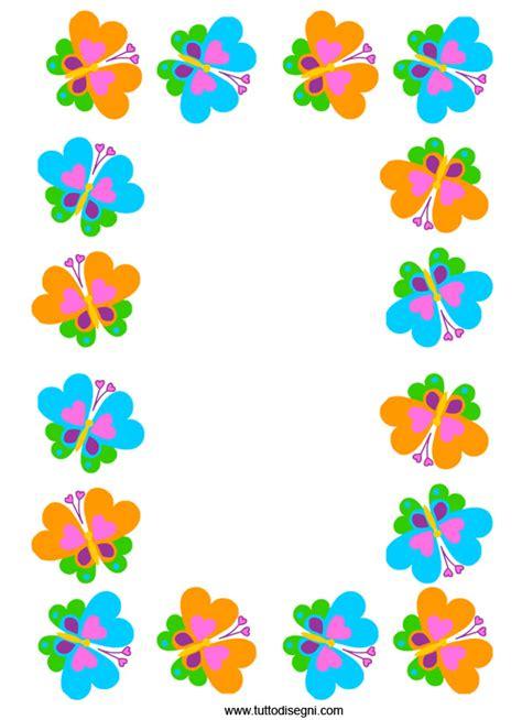 cornici colorate per bambini cornicetta con farfalle colorate tuttodisegni