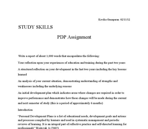 Personal Development Plan Essay by The Primary Purpose Of This Assignment Is To Develop A Personal Development Plan While