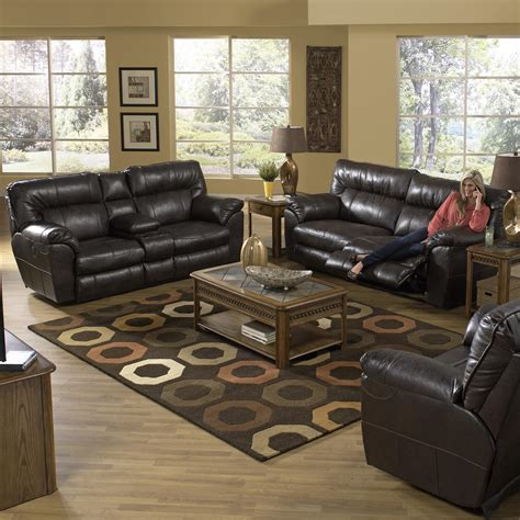 catnapper sofa and loveseat faux leather extra wide reclining sofa by catnapper wolf