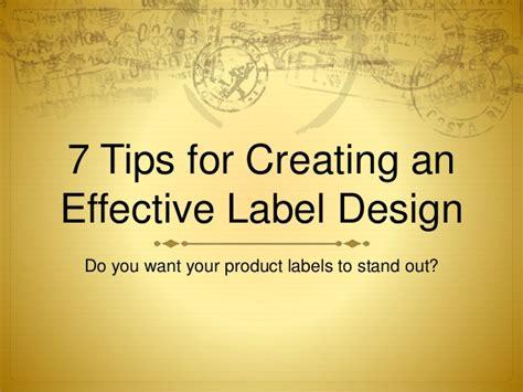 label design tips 7 tips for creating an effective label design