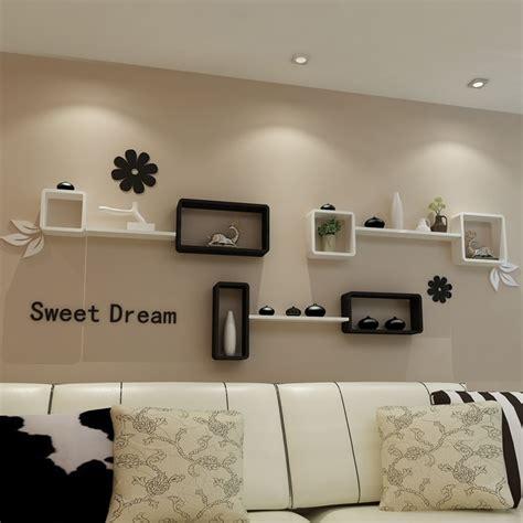 IKEA living room TV backdrop decorative wall mount rack