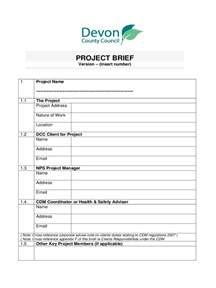 Printable Employment Application Project Brief Template 4 Free Templates In Pdf Word