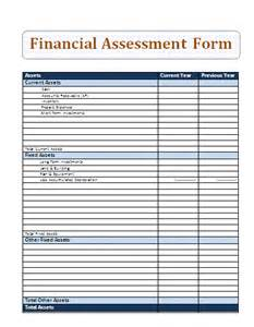 business financial assessment form sample forms