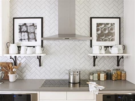 kitchen backsplash decorating ideas feature marble diamond 11 creative subway tile backsplash ideas hgtv