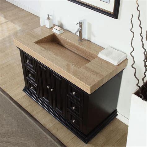 6284tr48c 48 single sink vanity travertine top cabinet