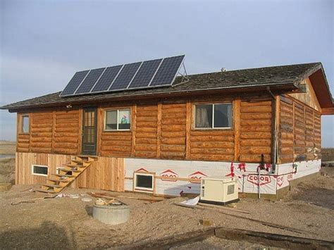 Solar Panels For Cabin by Solar Panels Log Cabin House Future Home