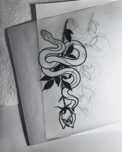 snake and rose tattoo designs best 25 snake ideas on